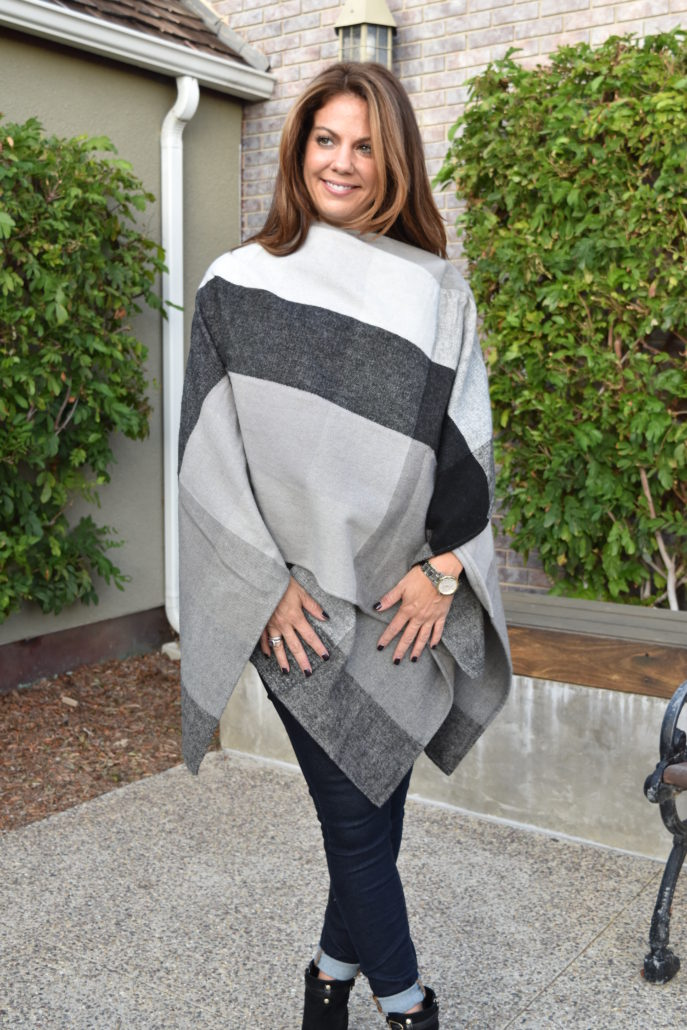 Poncho, cape, Nordstrom, Fall, Booties, Tory Burch, BP, Target Mossimo, burberry, fashion, trends, jeans, articles of society, black, gray, white, grey