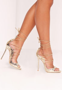 misguided-gold-lace-up-heels